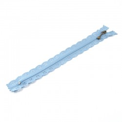 Zipper as lace - Light Blue - 20cm