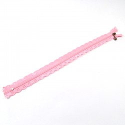 Zipper as lace - Pastel Pink - 30cm