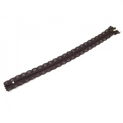 Zipper as lace - Brown - 30cm